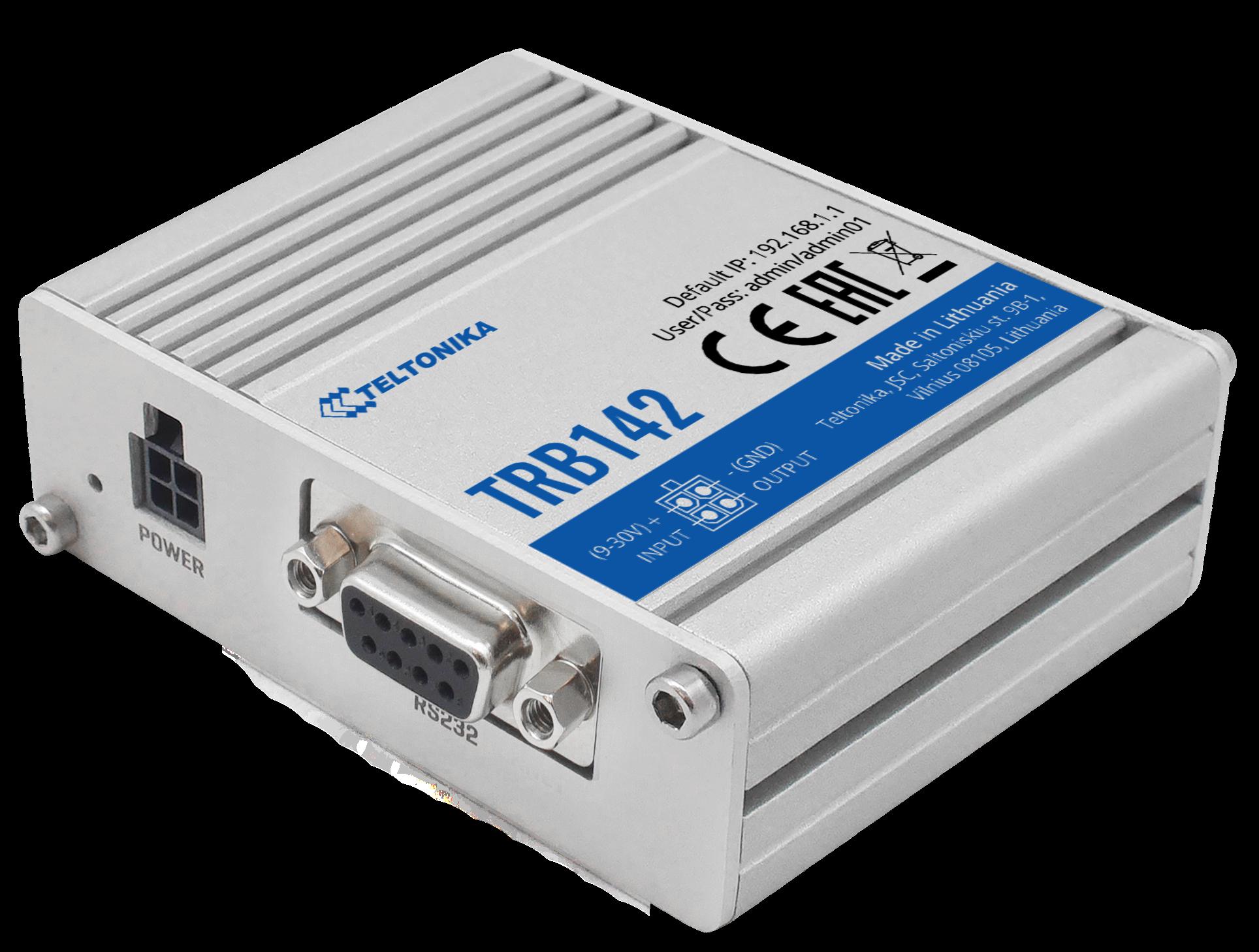 TRB142 – Gateway LTE CAT1 con interfaz RS232