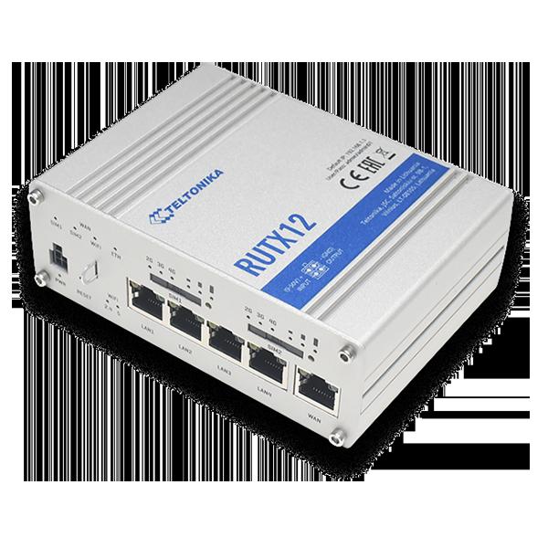 RUTX12 – Router doble módem LTE CAT6 + WiFi dual band